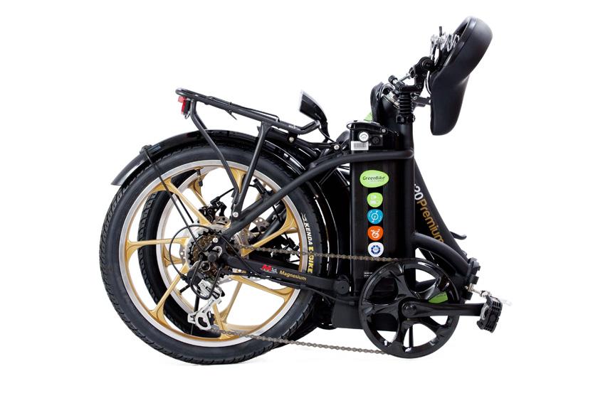 אופניים חשמליים סיטי פרימיום של גרין בייק במצב מקופל