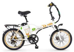 אופניים חשמליים טורו בצבע לבן