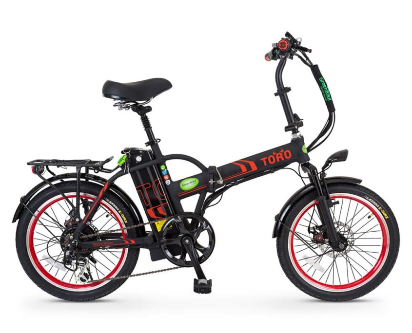 אופניים חשמליים טורו של גרין בייק שחור אדום
