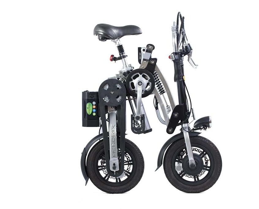אופניים חשמלים הנדריקס במצב מקופל