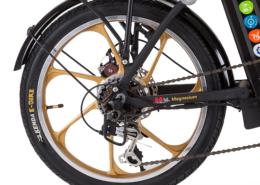 גלגל אחורי בצבע זהב לאופניים חשמליים