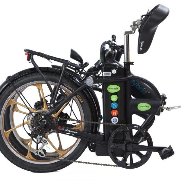 אופניים חשמליים סיטי פרימיום במצב מקופל