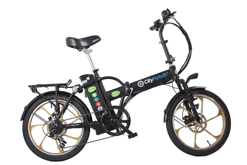 אופניים חשמליים של גרין בייק דגם cityHybrid
