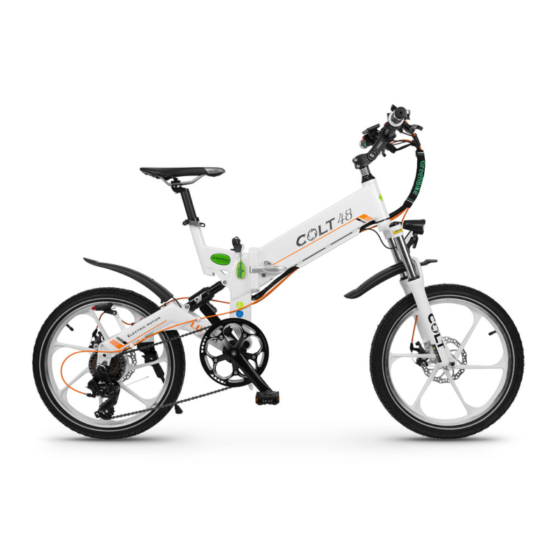 אופניים חשמליים קולט 48 במצב לבן