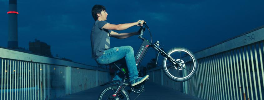 תמונת רקע- דוגמן אופניים חשמליים של גרין בייק קולט 48