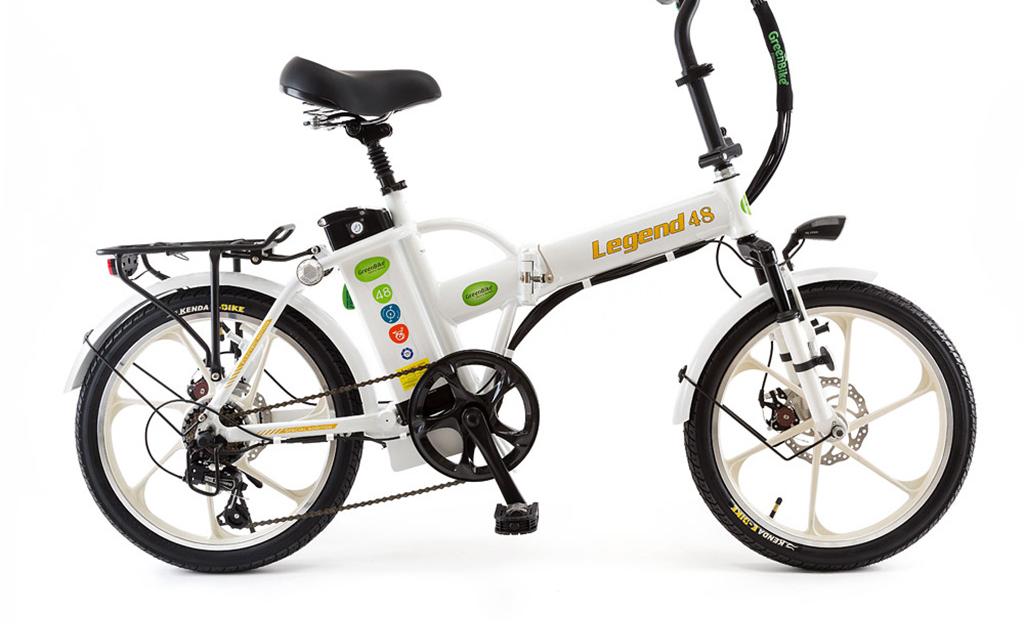 אופניים חשמליים לג'נד של גרין בייק בצבע לבן