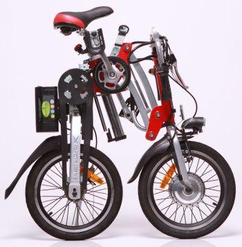 אופניים חשמליים הנדריקס במצב מקופל