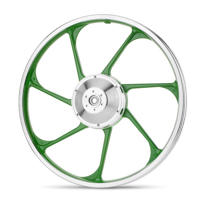 גלגל סגסוגת אחורי ירוק של גרין בייק