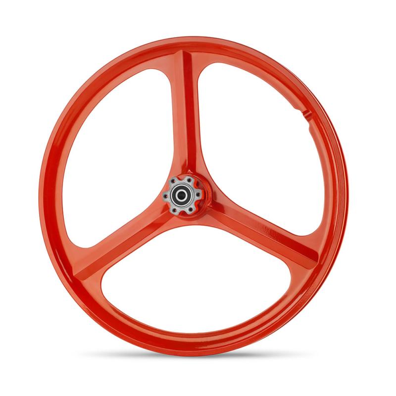 גלגלים לאופניים חשמליים של גרין בייק בצבע אדום