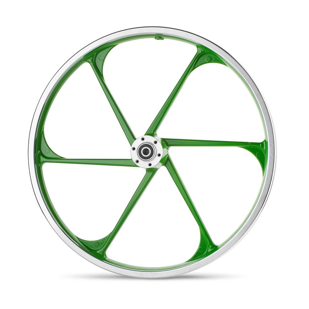 גלגל סגסוגת ירוק קדמי של גרין בייק