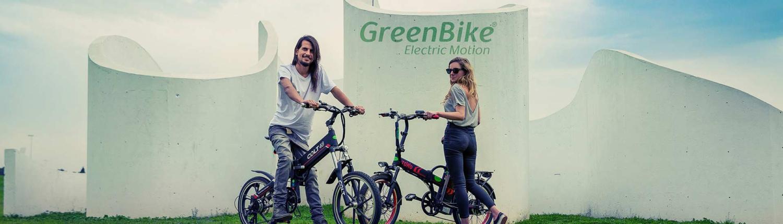 דוגמנים של אופניים חשמליים greenbike בפארק
