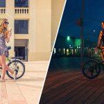 אופניים חשמלים גרין בייק ביום ובלילה